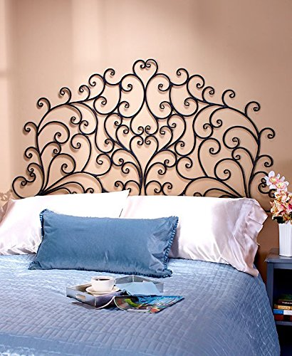 Scrolled Wall Mount Headboard (King)