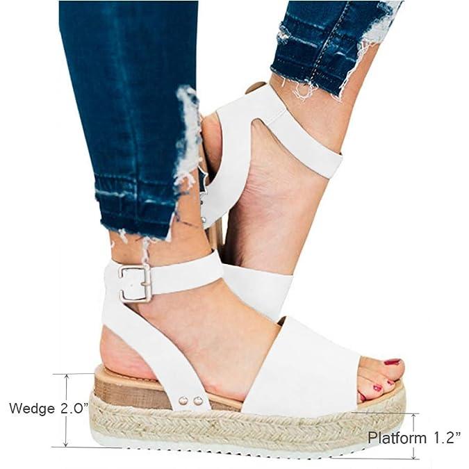 Plateforme Talon Sandales Basses Ouvert Fête De Compensées 5cm Plage Heel Chaussures Femme Bout 5 Jaune Espadrille Été Ville Noir b7Yfy6g