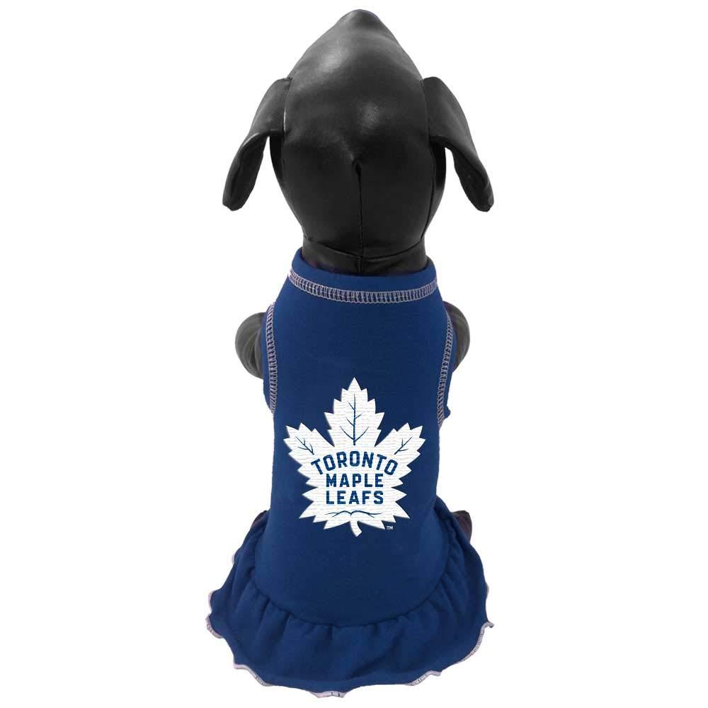 Medium All Star Dogs NHL Toronto Maple Leafs Dog Cheerleader Dress Royal
