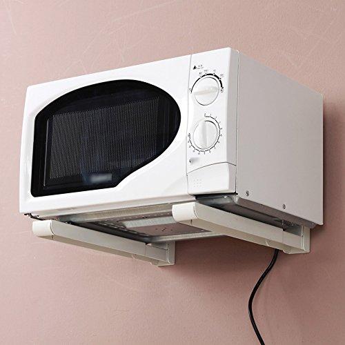 LIANGJUN Microwave Oven Rack Metal Wall Mounted Storage Shel