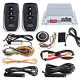 EASYGUARD EC002-T2 PKE car alarm system keyless entry auto start starter push start button password keypad rolling code