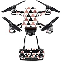 Skin for DJI Spark Mini Drone Combo - Marble Pyramids| MightySkins Protective, Durable, and Unique Vinyl Decal wrap cover | Easy To Apply, Remove, and Change Styles | Made in the USA