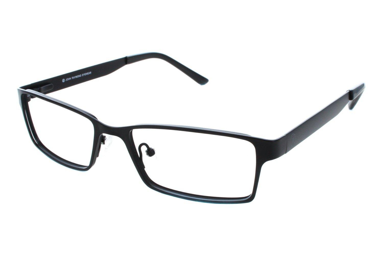 John Raymond Backspin Mens Eyeglass Frames - Black