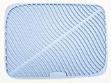 Silicone Dish Drying Mat Silicone Drying Mat Fast Drying Non-slip waterproof Heat Resistant dishwasher safe 1/4 17 Inch x 1/2 12 Inch, (Light Grey)