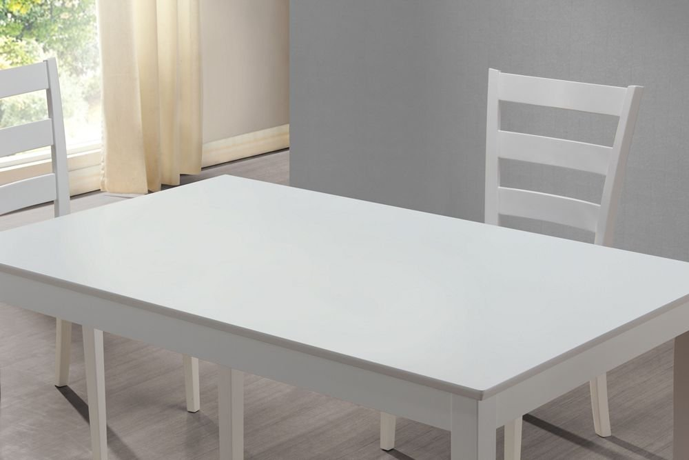 Amazon.com: Monarch Specialties 5 Piece Dining Set With A Bench And 3 Side  Chairs, White: Kitchen U0026 Dining