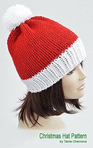 Christmas Hat Knitting Pattern Pom Pom Hat Knit Santa Hat Pattern