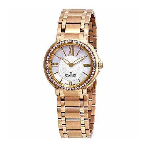 Charmex Malibu Crystal Mother of Pearl Dial Ladies Watch 6420