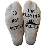 EPIC SOCKS - Do Not Disturb - Im Playing For nite Novelty socks - Boys gifts (Dark Grey, Medium (4-10))