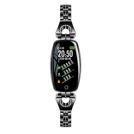 Cebbay Reloj Inteligente Hombre Mujer Impermeable IP67 Color Monitor de Frecuencia Cardiáco Reloj Inteligente para iOS