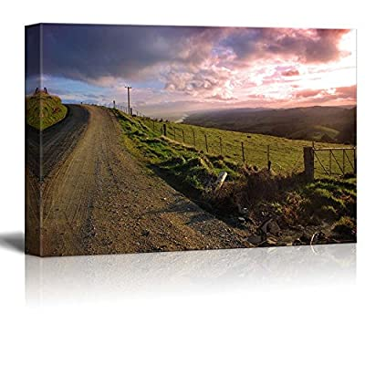 Unbelievable Artisanship, Beautiful Scenery Landscape Evening Country View Wall Decor, That's 100% USA Made