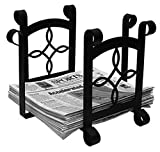 Iron Torrington Magazine Storage-Newspaper Rack - Heavy Duty Metal Magazine Rack, Newspaper Holder, Magazine Holder, Fireplace Accessories