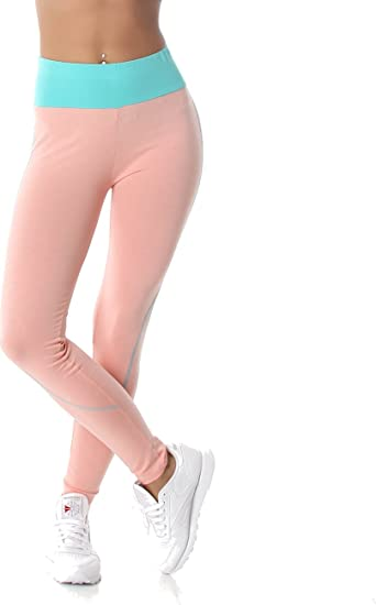 48f5afaa8b300c PF-Fashion Damen Leggings Sporthose Fitness Joga Hoher Bund Leggins Tapered  Body Slim Hose Karotte Lang: Amazon.de: Bekleidung