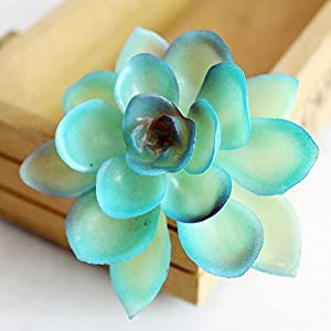 Allegro Huyer Faux Cactus Plants Blue Artificial Succulents Plants for Garden Wall DIY Realistic Fake Succulents Plastic Faux Cactus Aloe Plants Home Decor 19