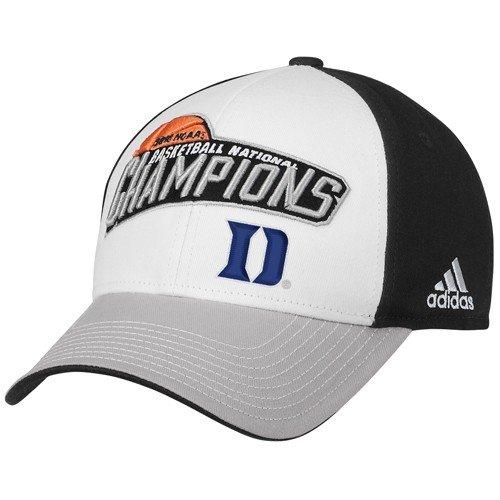 adidas Duke Blue Devils Black-White 2010 NCAA Division I Men's Basketball National Champions Adjustable Hat ()