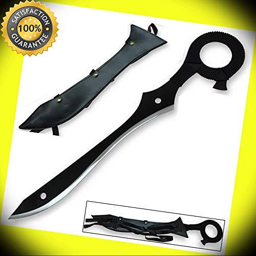 Steel Kill Anime Rending Half Scissors Blade - Life Fibers Sword Black Replica perfect for cosplay outdoor -