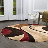 Home Dynamix HD5382-539 Tribeca Slade Modern Round Area Rug 5'2', Abstract
