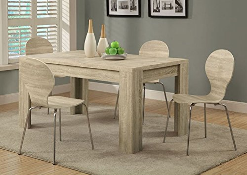 Monarch Reclaimed-Look Dining Table, 36 by 60-Inch, Dark Taupe