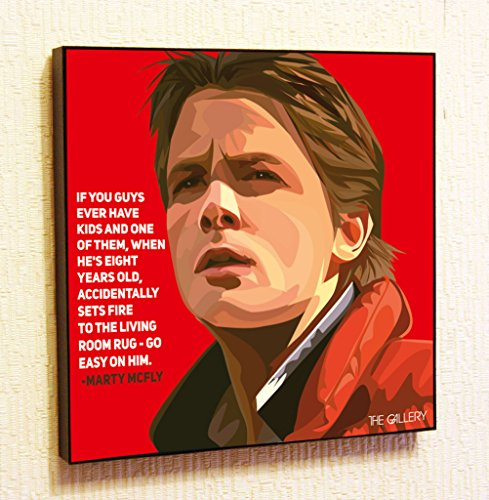 [Marty McFly Back to the Future Cinema Artist Actor Decor Motivational Quotes Wall Decals Pop Art Gifts Portrait Framed Famous Paintings on Acrylic Canvas Poster Prints Artwork Geek Decor] (Ninja Turtle Face Painting)