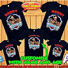new product choose genuine lovely design Paw Patrol birthday shirt, Paw Patrol custom birthday tshirt, Paw Patrol  party shirts, Paw Patrol family shirts, Paw Patrol matching shirts