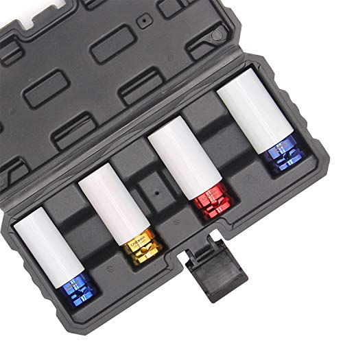 CASOMAN 1/2- Inch Drive Wheel Protector Impact Socket, 1/2