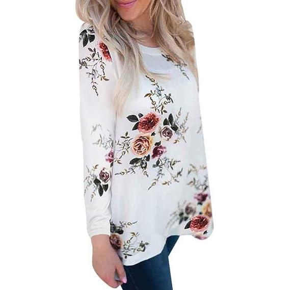 K-Youth Sudaderas Mujer Tumblr Estampado de Floral Sudaderas ...