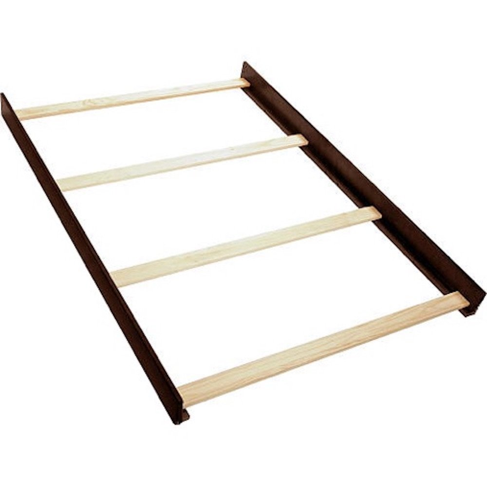 Solid Wood Full Size Conversion Kit Bed Rails for Baby Cache Cribs - Espresso