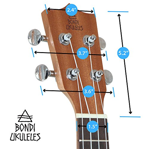 Ukulele Starter Kit (15-FREE-Bonuses) Mahogany Uke, Compression Sponge Case, Aquila Strings, Felt Picks, Tuner, Chord Stamp, Chord Chart, Leather Strap, Live Lesson & More (Limited Time) by Bondi Ukuleles (Image #9)
