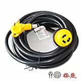 rv cable inlet - X-Haibei RV Trailer Extension Power Cord With Twist Lock 25ft Foot 30 Amp Finger Grip Handle 10/3 STW