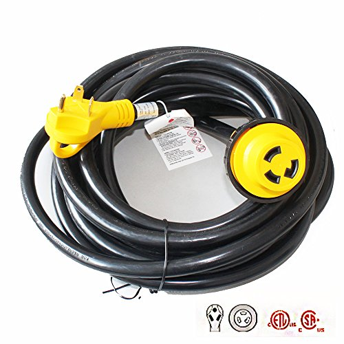 X-Haibei RV Trailer Extension Power Cord With Twist Lock 25ft Foot 30 Amp Finger Grip Handle 10/3 STW (Power Cord Grip Extension)