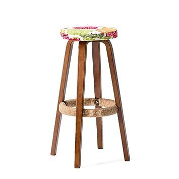 Bar Hohe Schemel,Retro Küche Hocker mit natürlichen Holz Beine High ...