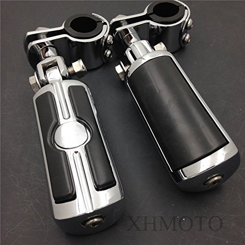 Motorcycle Highway Front Skull Foot Pegs Clamps For Honda GL