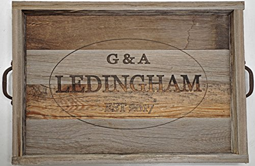 Wooden Ottoman Tray Top Personalized Serving Tray Rustic Reclaimed Barn Wood Tray Review