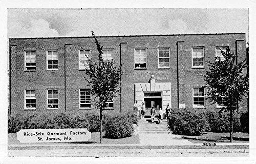 St James Missouri Rice Stix Garment Factory Street View Vintage Postcard K52979