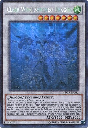 Yu-Gi-Oh! - Clear Wing Synchro Dragon (CROS-EN046) - Crossed Souls - Unlimited Edition - Ghost (Single Card Ghost)