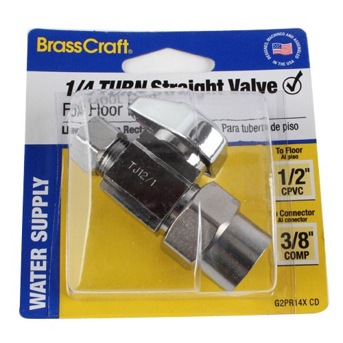 brass craft g2pr14x cd 1/2 -Inch Nominal CPVC x 3/8 -Inch Outer Diameter Compression ()
