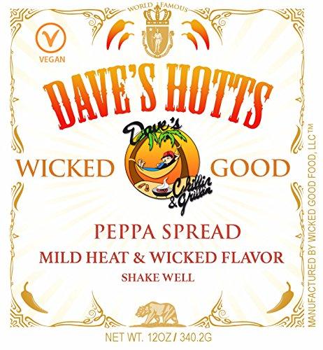 Sauces Spreads (Dave's Hotts Hot Sauce Peppa Spread Mild Heat)