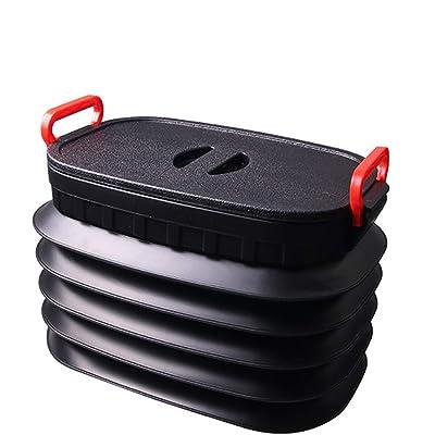 Calistouk Caja Bolsa de Almacenamiento Plegable de 18 L Telescópica,Multifuncional de Cubo al Aire Libre con Tapa Manija,Bote de Basura,Adecuado para Acampar,Auto-conducción,Pesca