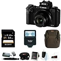 Canon PowerShot G5 X 20.2MP Digital Camera (Black) with 64GB SDXC Card and Digital Slave Flash Accessory Bundle Benefits Review Image