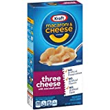 kraft cheese and macaroni - Kraft Macaroni and Cheese Dinner, Three Cheese, 7.25 Ounce Box (Pack of 8 Boxes)