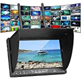 Favrison HD 40CH 7 Inch 5.8Ghz FPV Monitor with Dual Receiver and Build-in Battery