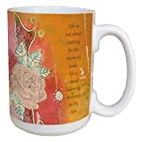 Tree-Free Greetings 46154 Jenny Sweeney Dance In The Rain Ceramic Mug with Full-Sized Handle, 15-Ounce