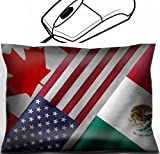 MSD Mouse Wrist Rest Office Decor Wrist Supporter Pillow design 32559273 Close up of the flags of the North American Free Trade Agreement NAFTA members on textile texture NAFTA is