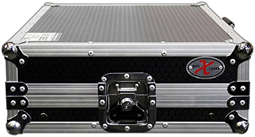 ProX X-NVLT ATA-Style Flight Road Case with Sliding Laptop Shelf for Numark NV and Nvii DJ Controllers Black/Chrome - Additional Laminate Shelf