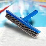 Pool Cleaning Brush, Sacow 10-inch Algae Pool & Spa Brush with Stainless Steel Bristles