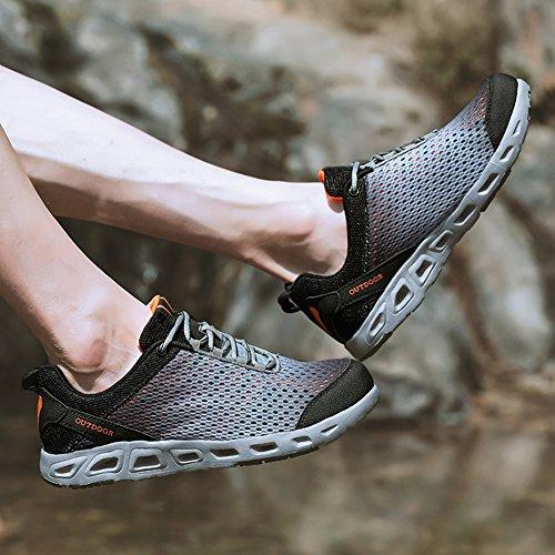Sixspace スニーカー メンズ 軽量 クッション性 靴 通気性 ジョギングシューズ 日常着用 ランニングシューズ 滑り止め カジュアルシューズ レディース