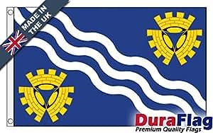 duraflag® Merseyside Bandera de calidad profesional (puerta y Cambiadas), 1 Yard (91cm x 45cm)