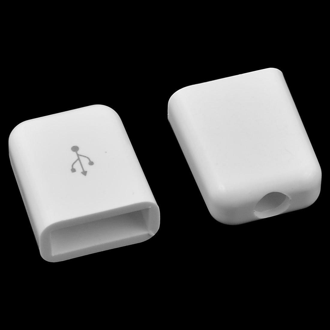 Amazon.com: eDealMax 56pcs 18x15x7mm Conector de soldadura Puerto Shell partes Blancas plástico Redondo Edge USB: Electronics