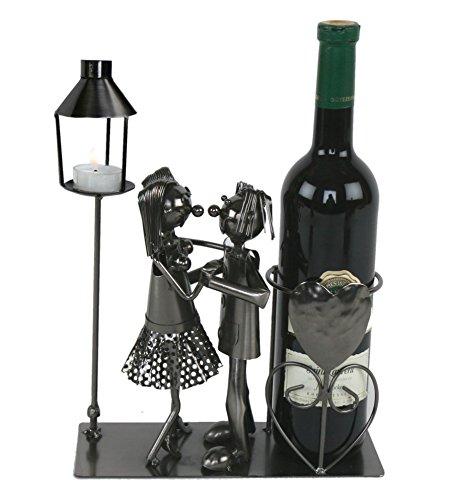 Tanzendes Paar Flaschenhalter mit Teelichthalter Metall Flaschenhalter Deko