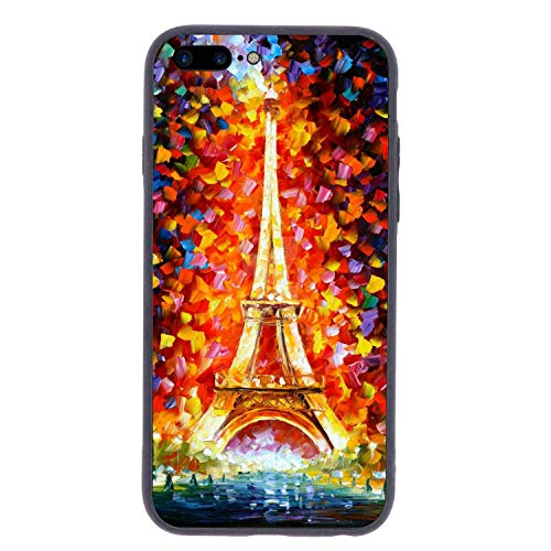 CHUFZSD Drawn Eiffel Tower iPhone 7/8 Plus Case Soft Flexible TPU Anti Scratch Shock-Proof Protective Shell Compatible Phone Case Cover (5.5 Inch)
