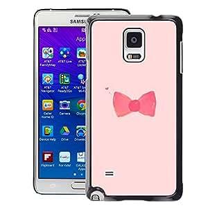 Supergiant (Bow Bowtie Pink Red Fashion Design) Impreso colorido protector duro espalda Funda piel de Shell para Samsung Galaxy Note 4